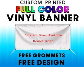 Custom Vinyl Banner - Double Sided