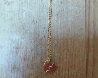 Broken Heart Heartbreaker Necklace