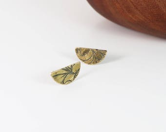 half moon stud earrings   small studs by souvenir handmade