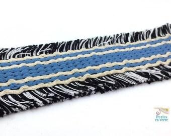 20cm Ribbon 40mmmm (fil151) dark blue Cuff Bracelet