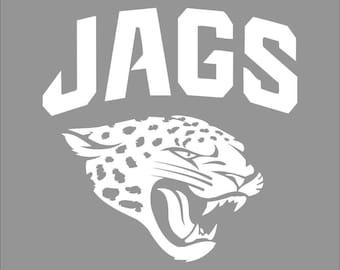 Jacksonville Jagaurs White Vinyl Decal