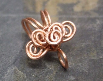 Handmade Copper Bail VIII., PurpleLily Designs, SRA Suitable for Viking Knit