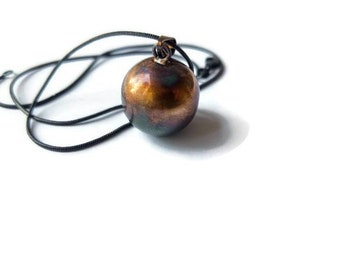 Harmony ball necklace - Gothic Necklace - charm ball - sterling silver - angel caller - bola necklace - long necklace