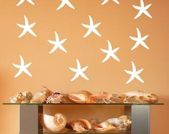 Starfish Decals | Vinyl Wall Decals | Beach Decals | Beach Decor | Nautical Decals | Tropical Decor | 5 Inch Starfish | 22519
