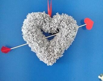 Fluffy Heart and Arrow