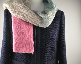 Rainbow Scarf knitting kit - as seen in UK Knit Now magazine