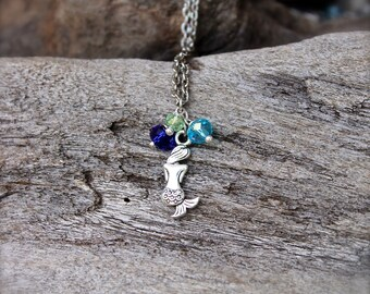Mermaid Necklace for Beach Brides - Hawaiian Jewelry by Mermaid Tears - Blue Mermaid Jewelry from Hawaii - Ocean Inspired Hawaii Necklace