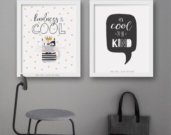 Kindness is Cool Print.  Be Kind.  Love Yourself.  Inspirational Print