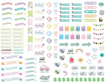 Cute and Colorful LDS themed Planner/Calendar Stickers