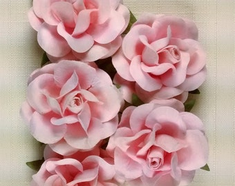 FF-111 Gorgeous Pink Paper Roses