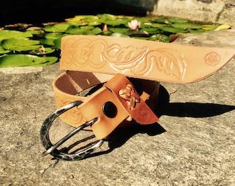 Belt leather repousse (S)