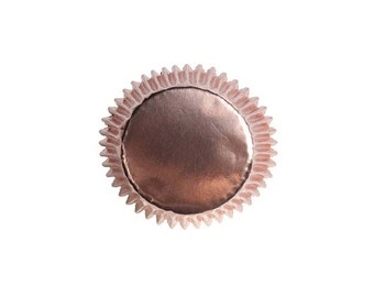 Rose Gold Cupcake Cases x 45, Birthdays Cupcake Cases, Weddings Cupcakes, Baby Showers Decor, Rose Gold Party Decor