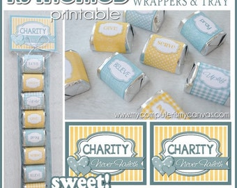 RELIEF SOCIETY Chocolate Nugget Wrappers, LDS, Visiting Teaching, Favor, Gift, Handout - Printable Instant Download
