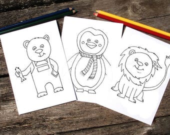 Cute Animals Coloring Kit