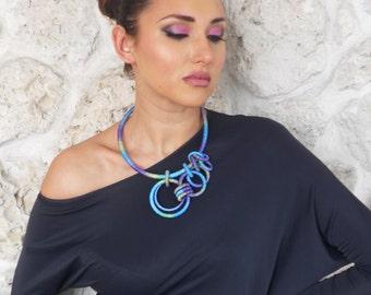Statement Asymmetrical Necklace Iris