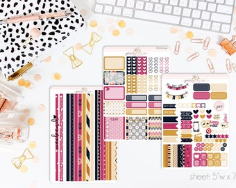 Draper HORIZONTAL Weekly Kit // 130+ Matte Planner Stickers // Perfect for your Erin Condren Life Planner // WKH0040