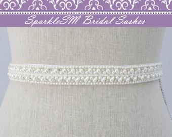 Bridal Sash, Wedding Sash, Bridal Belt, Crystal Sash, Rhinestone Sash, Jeweled Belt, Wedding Gown Belt, Pearl Sash, Crystal Belt, Pearl Belt