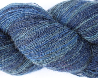 KAUNI Estonian Artistic Wool Yarn Blue Denim 8/1,  Laceweight Art Wool Yarn for Knitting, Crochet