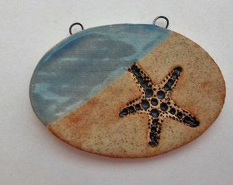 Ceramic Starfish on the Beach Pendant