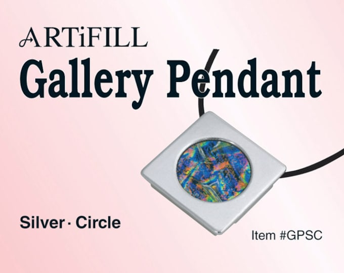 Gallery Pendant: Silver - Circle (6mm deep) #GPSC