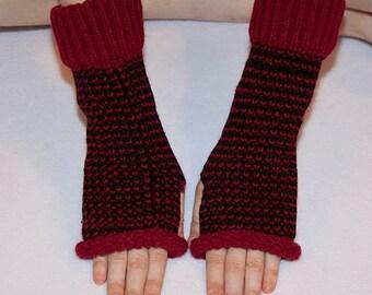 Fingerless gloves/ arm warmers