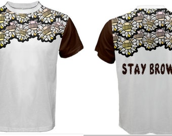 Mens Ween Boognish Stay Brown Push the lil Daisies all over print