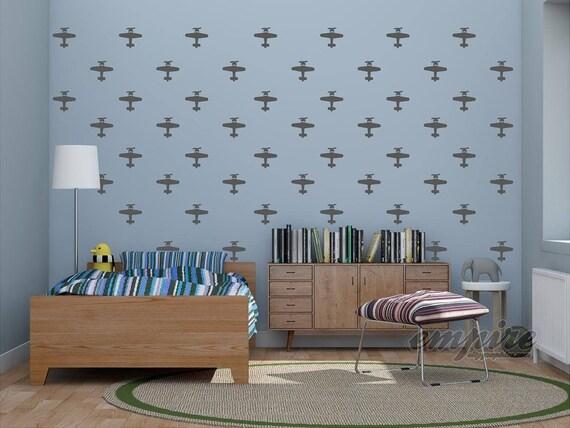 Mini Planes, Airplane decals, Boys wall decor
