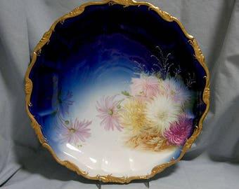 Vintage Hand Painted Rosenthal Porcelain Charger/Plate Cobalt Blue, Alice