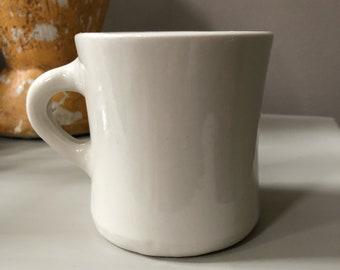 Vintage Victor Mug, Restaurant Ware Mug, creamy white porcelain, restaurantware, Victor Insulators, heavy diner coffee mug   Made in USA