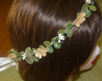 Honey & Pearl Boho Flower Crown