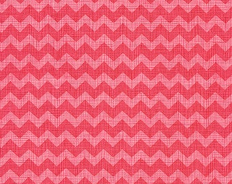 Strawberry Zig Zag or Chevron by Timeless Treasures 100% Cotton Fabric in 4th, Half, 3/4 a Yard or Yard  for Quilting/ Sewing/ Applique
