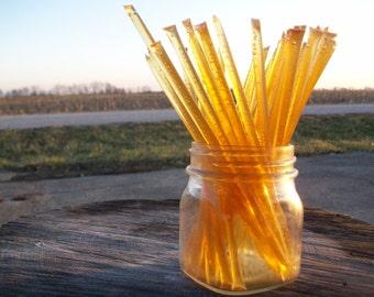 Honey Sticks -Pure Summer Honey - 25 honey filled straws
