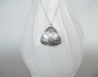 Hibiscus Fine Silver Pendant