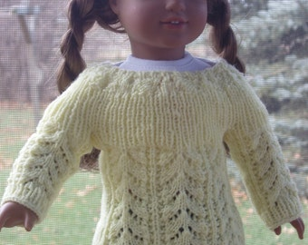 Knit PDF Pattern - Fannie Mae sweater