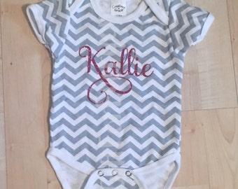 Custom Name Baby Girl Bodysuit