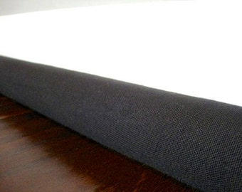 BLACK CANVAS draft guard cover, custom length door draft stopper, draft snake // black or natural canvas //decor and housewares