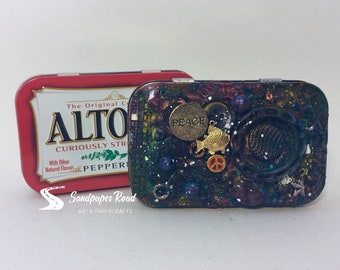 Mixed Media Altoid Tin - Altered with Brutus Monroe Surface Sprays