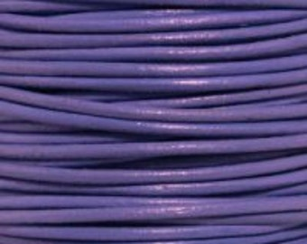 0.5mm Light Violet Leather Round Cord  - 2 yards (1.82m)