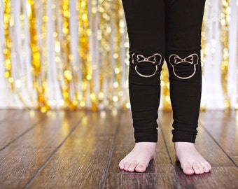 Minnie Mouse Leggings Hand Painted Childrens Leggings Custom Toddler Leggings Womens Leggings