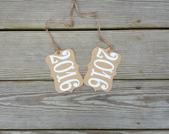 Rustic 2018 Kraft Table Number Tags, 2018 Graduation Centerpiece, Graduation Party Decor, Rustic Wedding Centerpiece, Set of 5