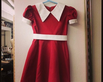 Little Orphan Annie Costume - Iconic Red Dress (Custom Made)