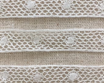 Vintage Handmade Bobbin Lace ~ Antique ~ Bridal Trim