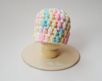 Micro Preemie Crochet Chunky Baby Hat/Preemie Hospital Hat/Baby Shower Gift/Super Soft and Comfy/Ready to Ship