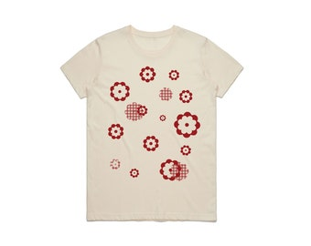 60's Patchwork Red Flower