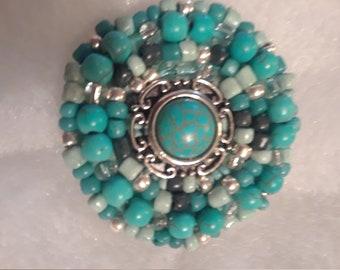 Hand beaded pin, brooch, broach, pin, decorative jewelry, beaded