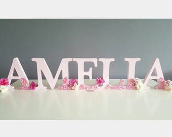 Wooden Letters - Name in Medium Capitals - Custom Home Decor - Personalised Wooden Letters - Nursery Room - Single Initials Gift