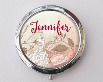 Bridesmaid Compact Mirror, Personalized Bridesmaid Gift, Purse Mirror