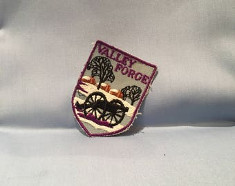"""valley forge vintage shield 2"""" patch"""