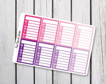 Pink/Purple Sidebars Planner Stickers Designed for Erin Condren Life Planner Vertical