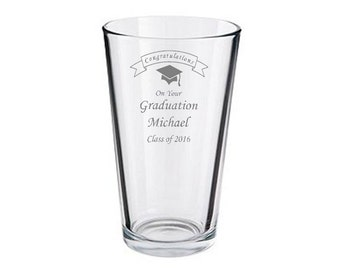Congratulations On Your Graduation Personalised Engraved Pint Glass